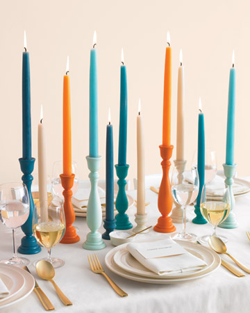 candle stick table decor