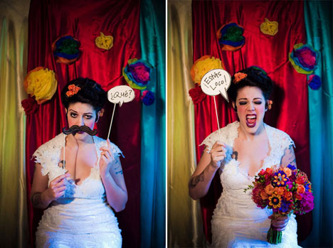 mexican theme wedding photobooth