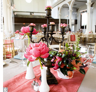 candelabra wedding centerpieces