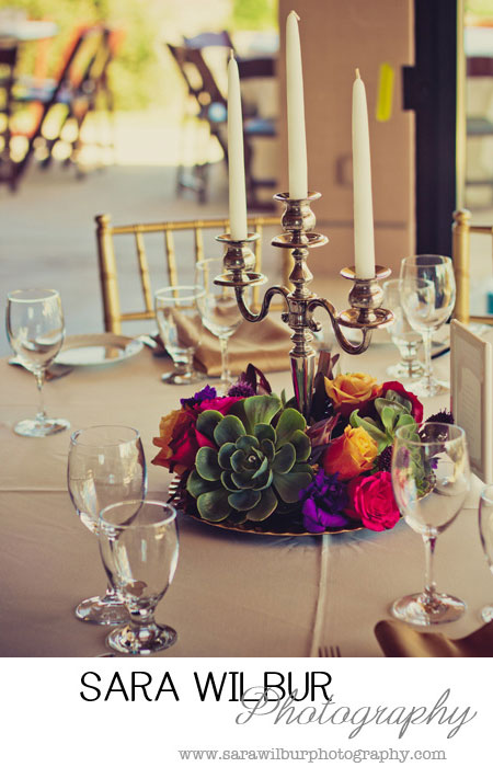 wedding candlestick centerpieces