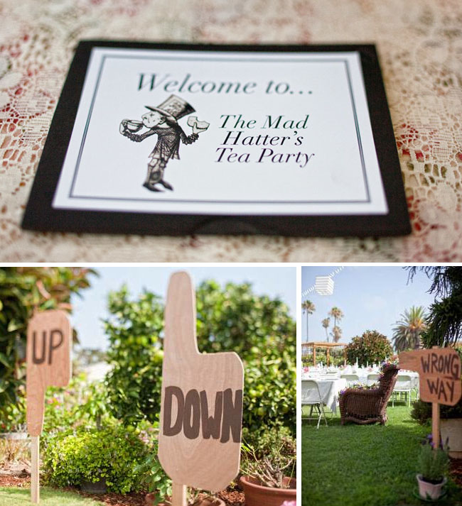 mad hatter wedding shower