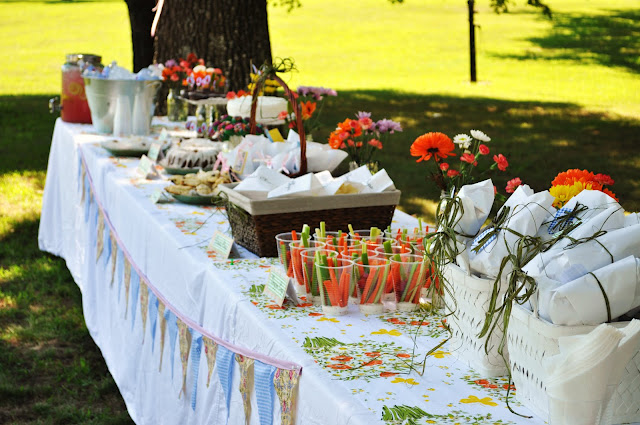 backyard wedding shower