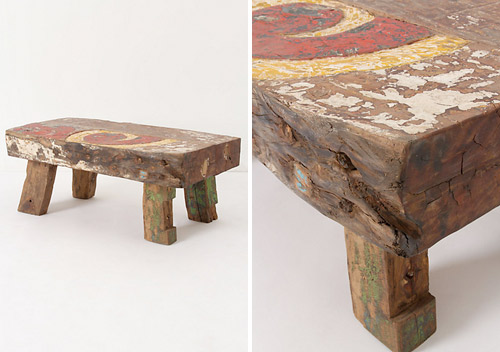 rustic coffee table Anthropologie