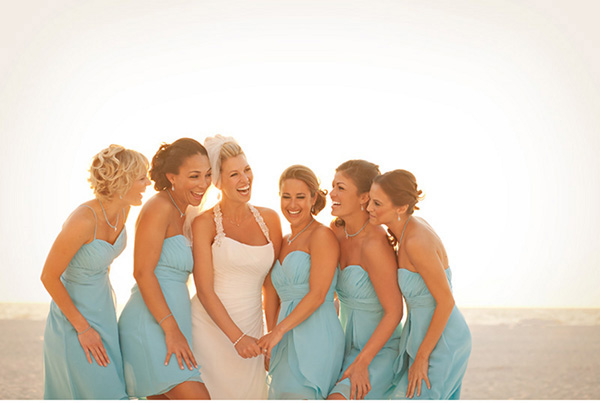 teal beach bridesmaid dresses