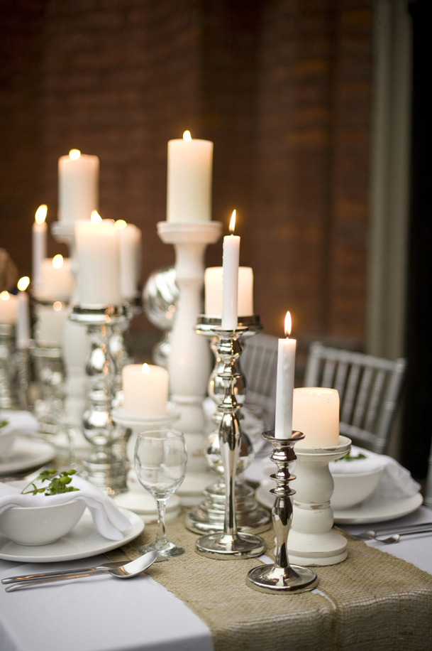 wedding candle table decor