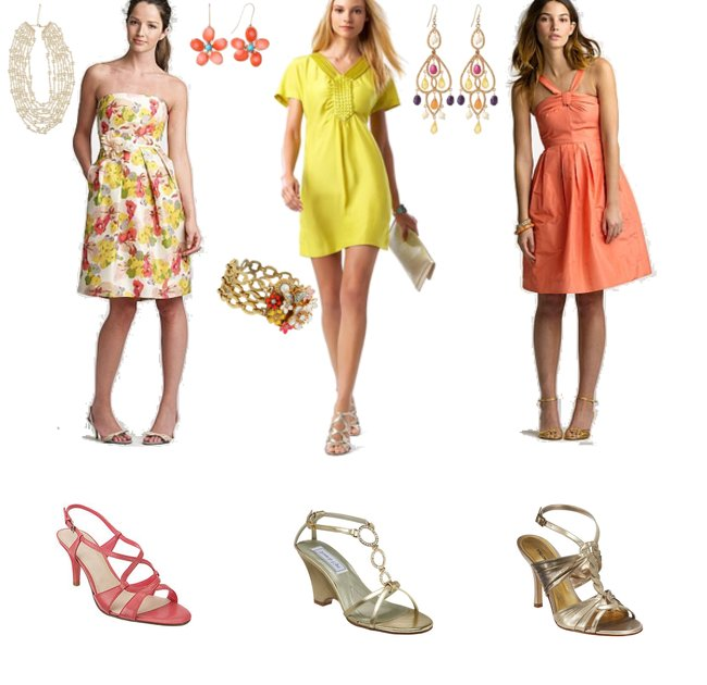 bright summer bridesmaid dresses