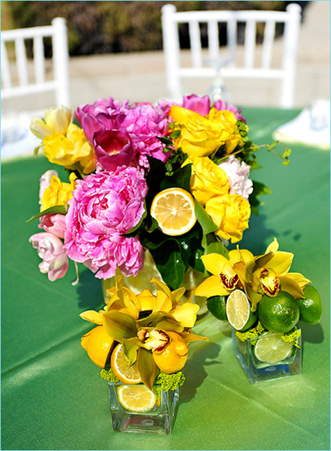 bright flower centerpieces