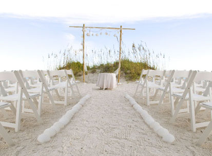 white beach ceremony