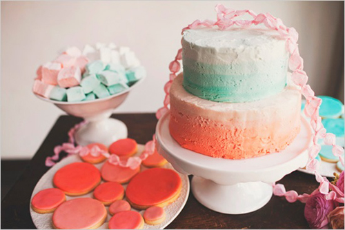 pastel ombre wedding cakes