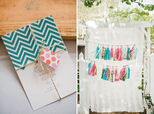 chevron wedding details
