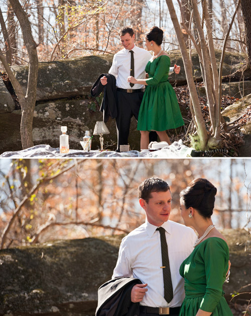 vintage inspires engagement photos