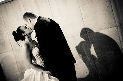 beautiful black and white wedding photography