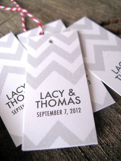 chevron wedding inspiration