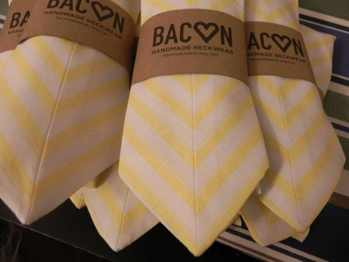chevron neck ties