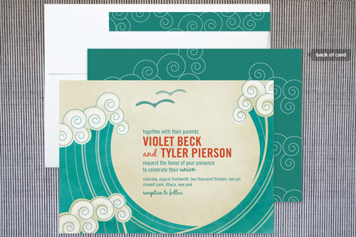 Beach Themed Wedding Invitations Templates: Wedding Invitations: Beach Theme Inspiration