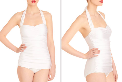 vintage inspired one piece bathing suits