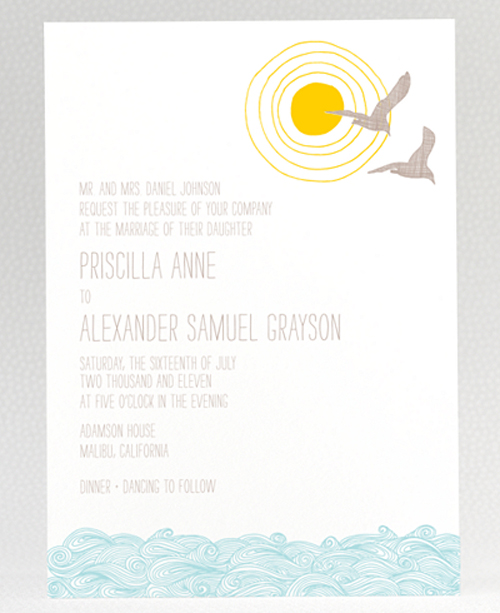 cute beach wedding invites