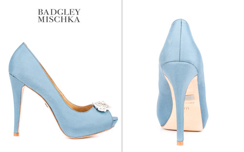 light blue wedding pumps