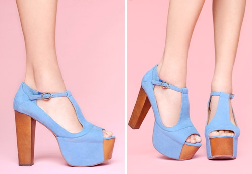 Something Blue Wedding Shoes: Light Blue Heels
