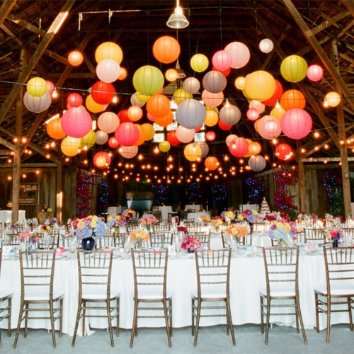 Hanging wedding lanterns