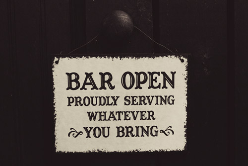wedding bar sign