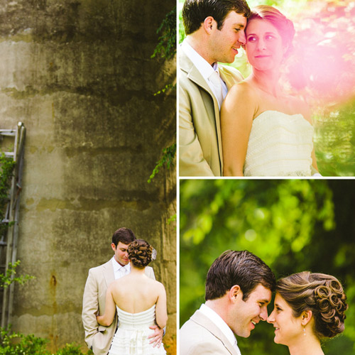 southern bride and groom portraits