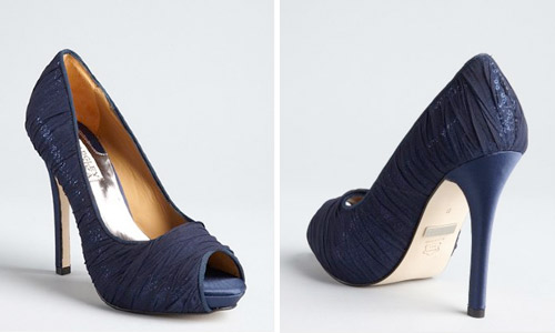 navy wedding heels