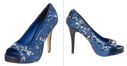 sparkly navy blue shoes