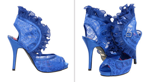 funky blue wedding shoes