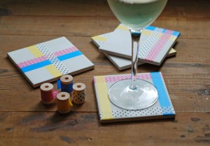 DIY Washi Tape Coasters