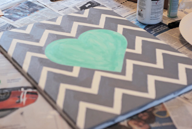 DIY Chevron Wall Art