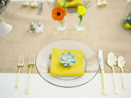 succulent place setting