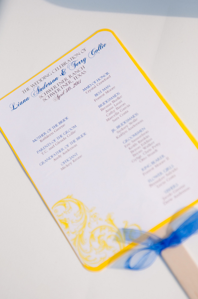 Yellow Wedding Programs