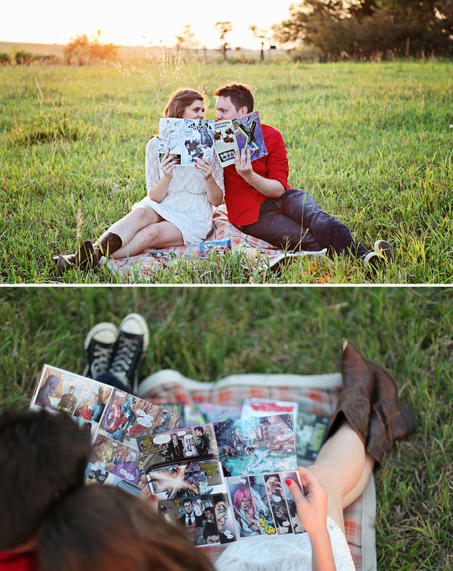 Comic Book Engagement Shoot