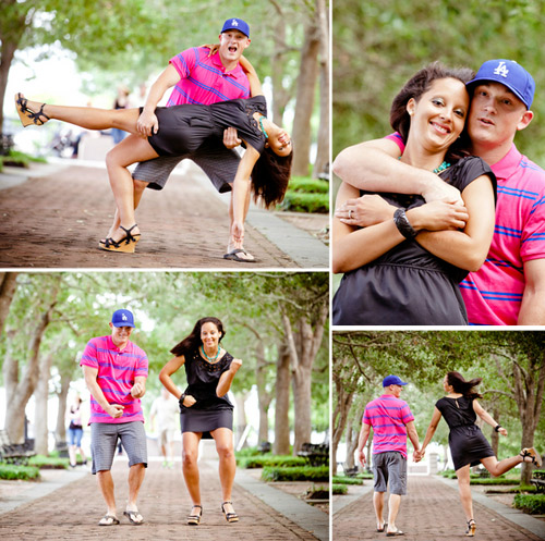 fun engagement pictures