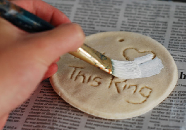 DIY Wedding Ring Plates
