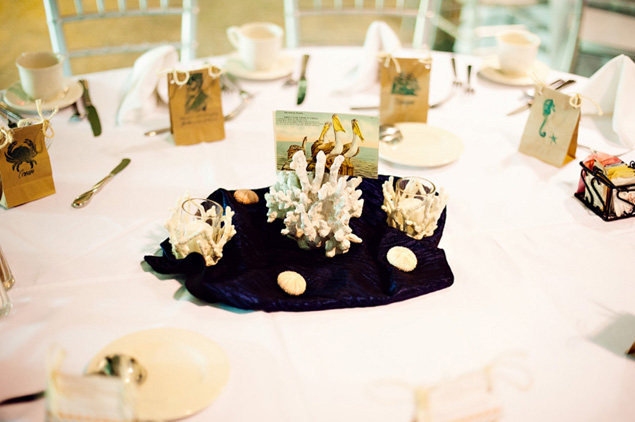 Beach themed centerpieces