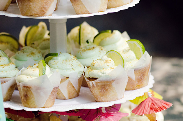 Lime Wedding Cupcakes