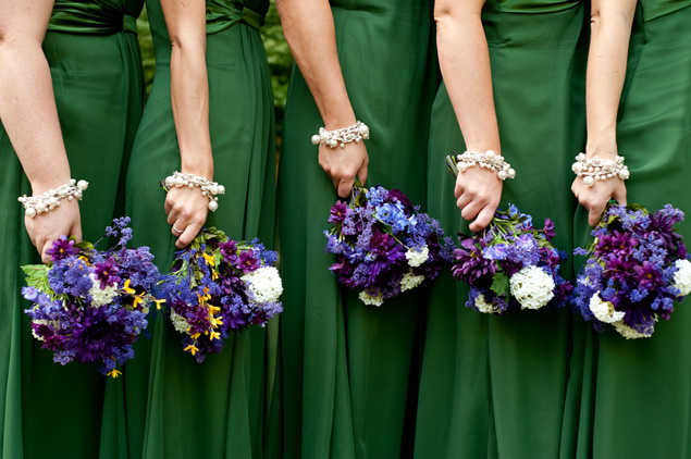 green bridesmaid dresses