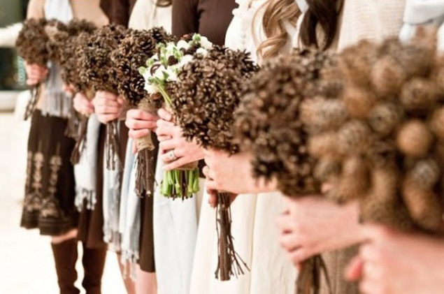 Pine Cone Wedding Bouquets