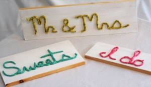 DIY Wedding Word Signs