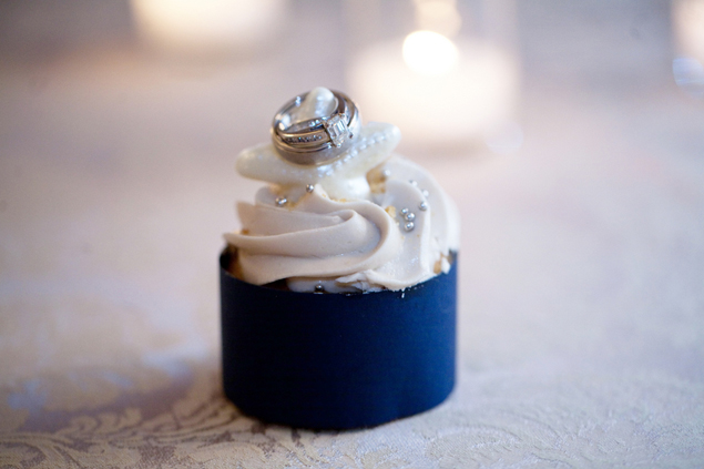 Wedding Rings on Cupcake