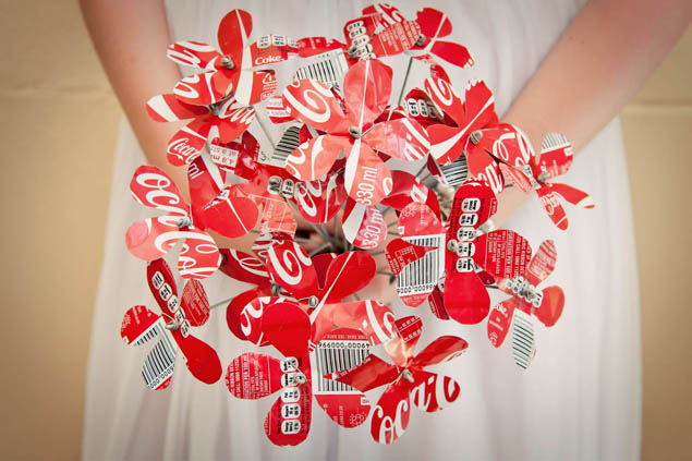 coke can bouquet
