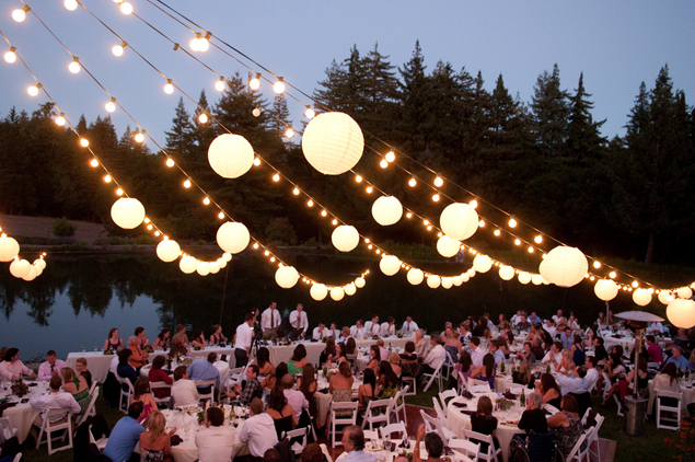 outdoor wedding decor