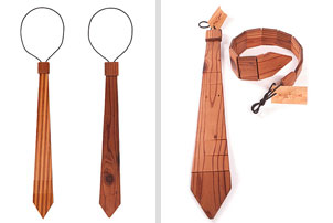 wood neck tie