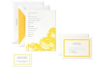 yellow rose invitations