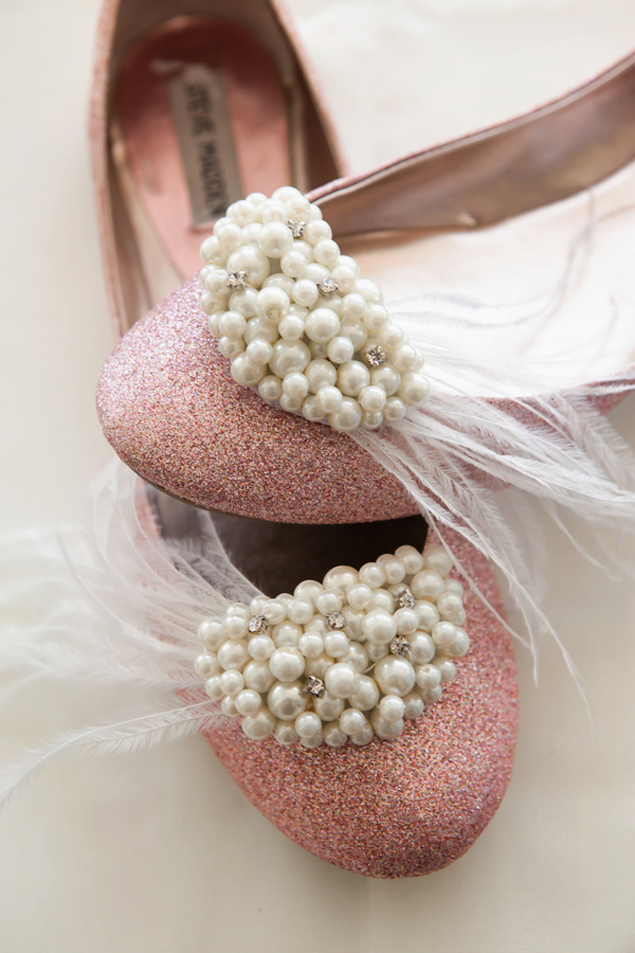 Pink and Pearl Wedding Shoes