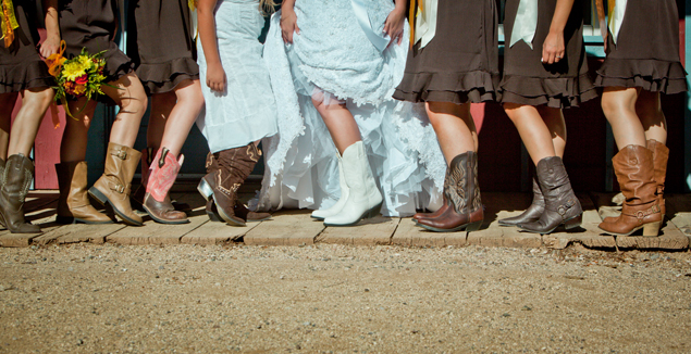 Bride and Bridesmaid Boots