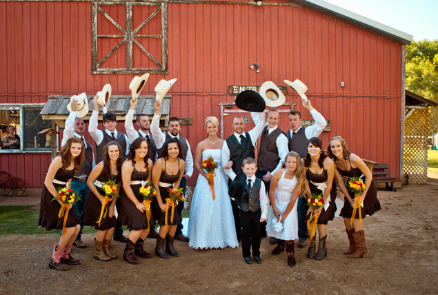 Cowboy Style Wedding Party