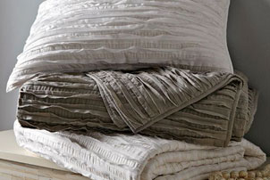 Frayed Edge Quilt + Shams